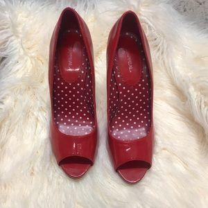 Red Patent Stilettos.